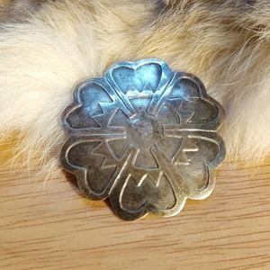 Sterling pin pendant vintage Mexico